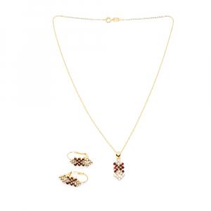 Set bijuterii placate cu aur Caliope0