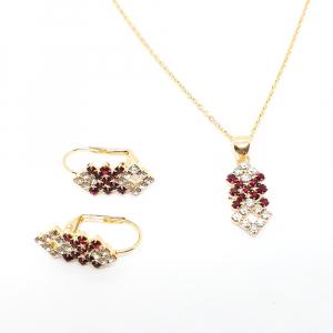 Set bijuterii placate cu aur Caliope1