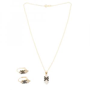 Set bijuterii placate cu aur Predicto0
