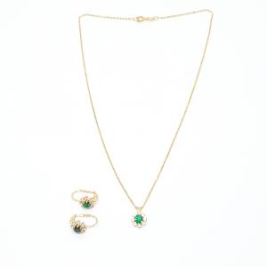 Set bijuterii placate cu aur Discretto0