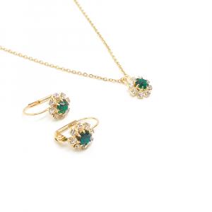 Set bijuterii placate cu aur Discretto1