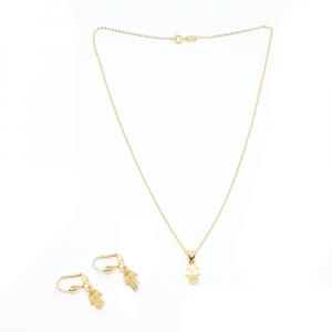 Set bijuterii placate cu aur Hamsa0