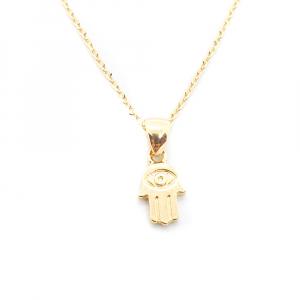 Set bijuterii placate cu aur Hamsa1