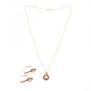 Set bijuterii placate cu aur Pretty Woman0