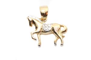 Talisman pentru barbati placat cu aur Horse0