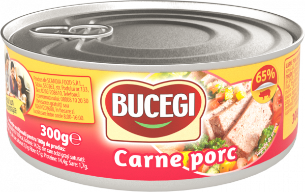 Bucegi Carne porc 300g, 65% carne [0]