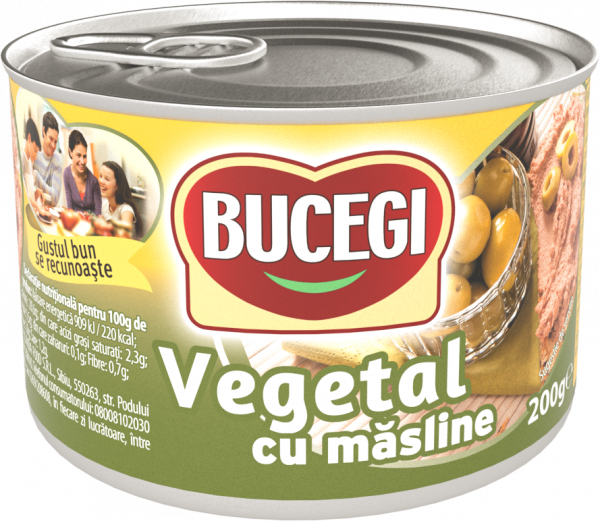 Bucegi Pasta vegetala cu masline 200g [0]