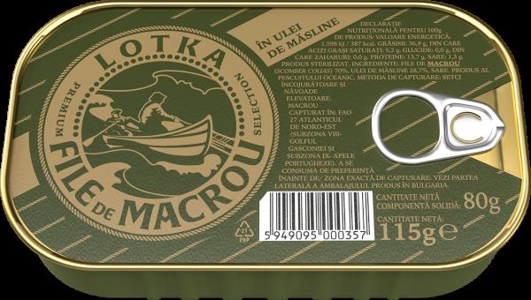 LOTKA Macrou file in ulei de masline 115g [0]
