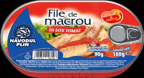 NAVODUL PLIN File de macrou in sos tomat 180g [0]