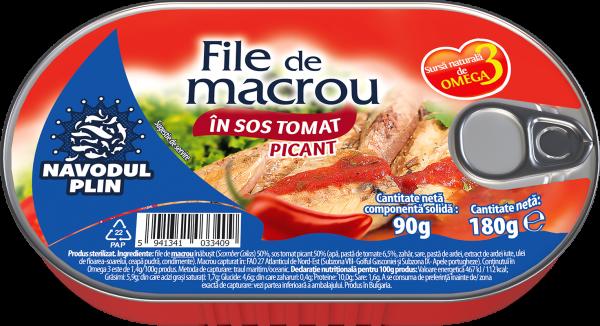 NAVODUL PLIN File de macrou in sos tomat picant 180g [0]