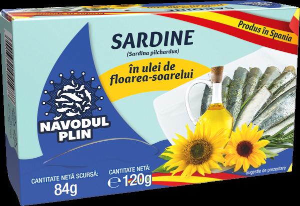 NAVODUL PLIN Sardina in ulei floarea soarelui 120g [0]