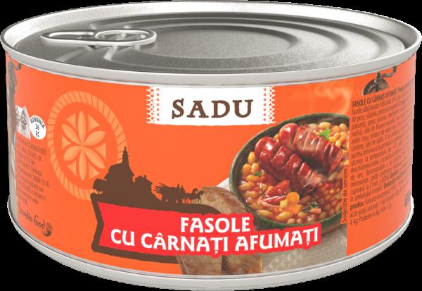 Sadu Fasole cu carnati afumati 400g [0]