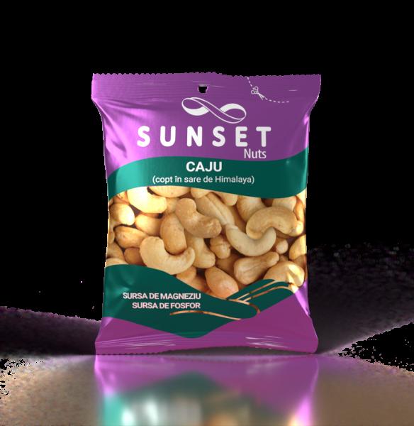 SUNSET NUTS Caju copt in sare de Himalaya 50g [0]