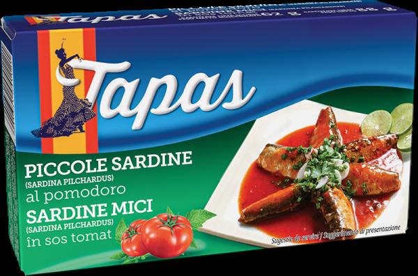 TAPAS Sardinela de Atlantic in sos tomat 88g [0]