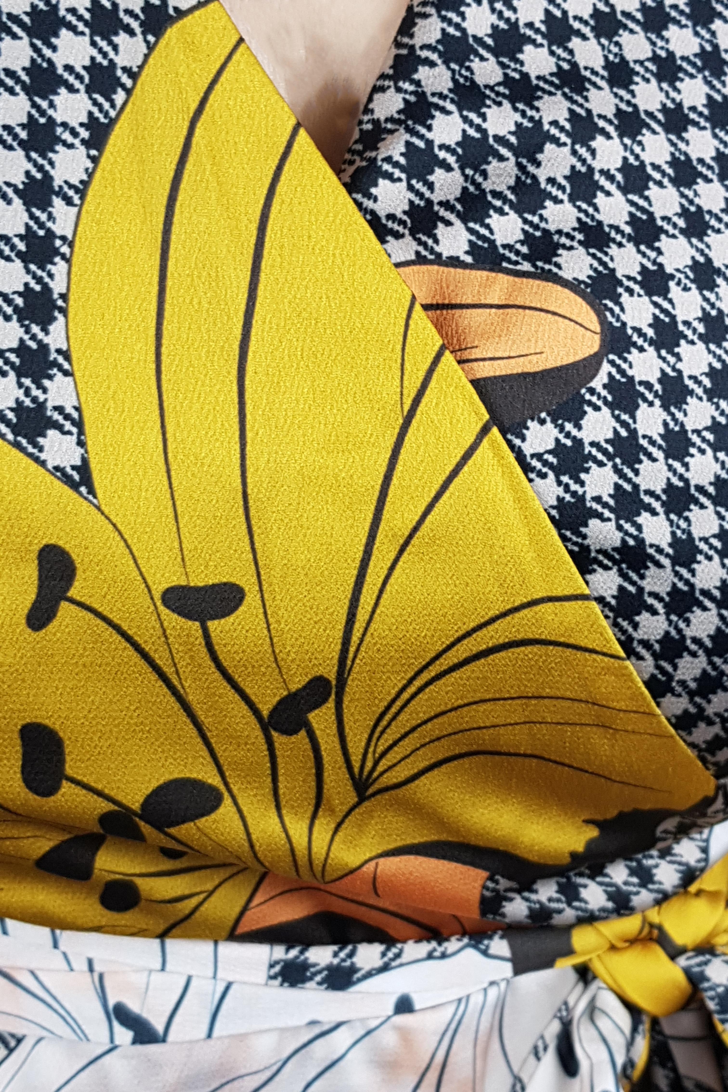 Rochie Sonia cu cordon in talie, imprimeu floral si maneca trei sferturi3