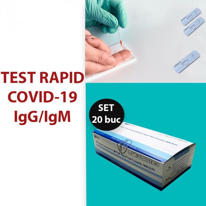 Test Rapid Anticorpi Covid-19 IgG/IgM set20 buc. [0]