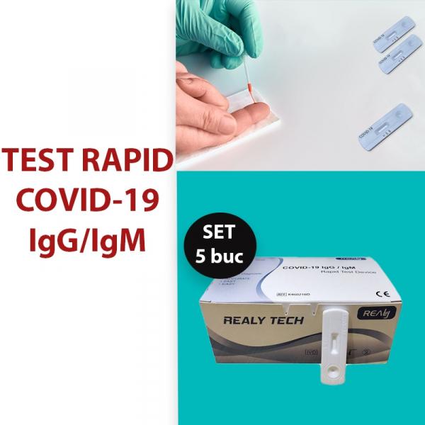 Test Rapid Anticorpi Covid-19 IgG/IgM set. 5 buc. [3]