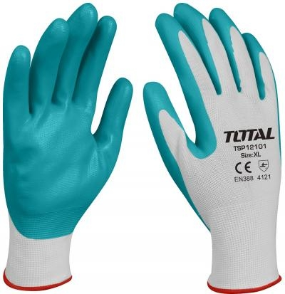 Manusi de protectie - nitril + textil / set 10 bc 0