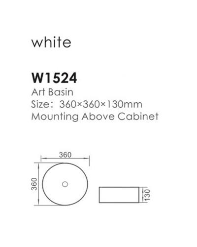 Chiuveta-ceramica-art-basin-360/360/130 1
