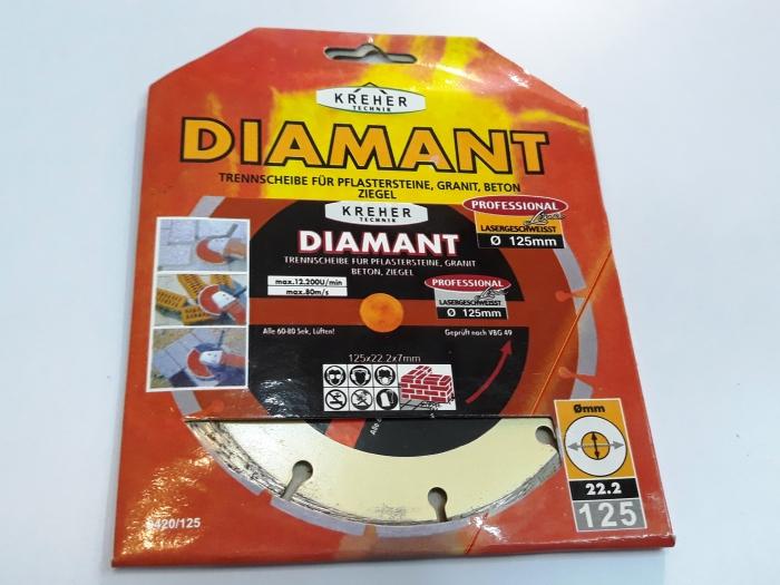 Disc diamantat 125 mm S 1