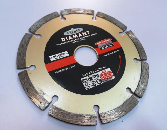 Disc diamantat 125 mm S 0