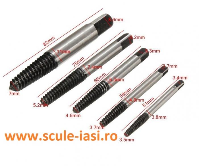 Set extractor suruburi rupte - 5 piese 0