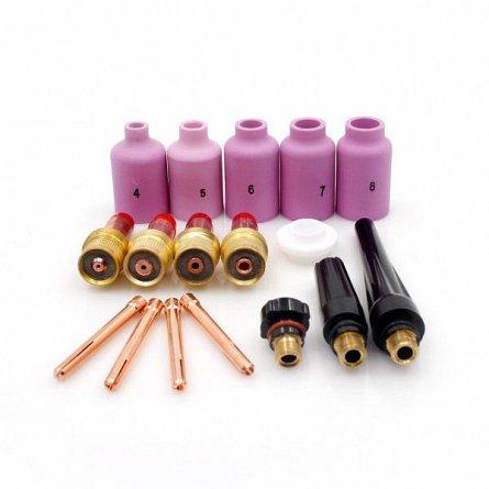 Set echipare pistolet TIG-WIG cu lentile de gaz (17 accesorii) [0]