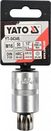 "Bit spline M16, cu adaptor 1/2""0"