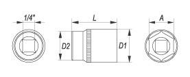Cheie tubulara lunga - 10 mm [1]