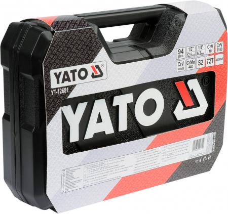 Trusa chei tubulare Yato, 94 piese2