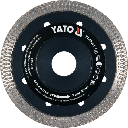 Disc Diamantat YATO, Turbo, Ultra-Subtire, 115mm 0