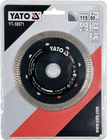 Disc Diamantat YATO, Turbo, Ultra-Subtire, 115mm 1