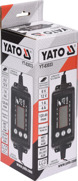 Redresor digital YATO, 6/12V, 1/4A, max 120Ah 4