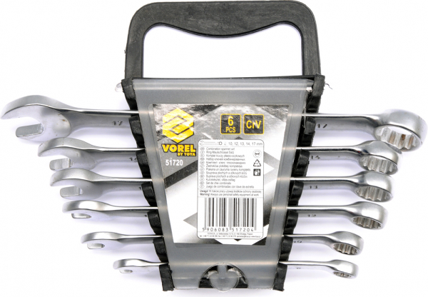 Set chei combinate VOREL, 8-17mm, 6buc, CrV 0