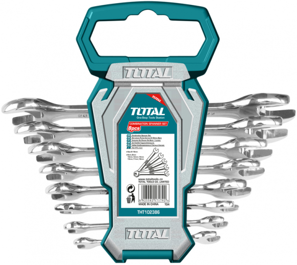 Set Chei Fixe TOTAL, 6-22mm, 8buc, INDUSTRIAL 0