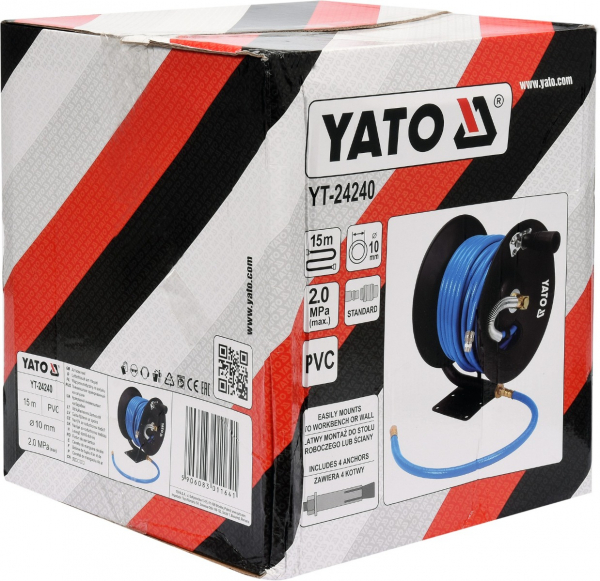 Furtun de aer comprimat YATO, 10mm, 15m, 20bar 2