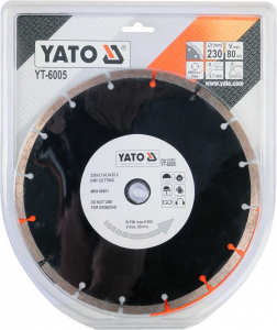Disc diamantat YATO, segmentat, 230mm1