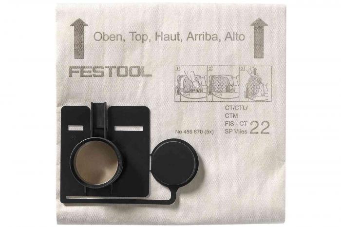 Festool Sac de filtrare FIS-CT 44 SP VLIES/5 0
