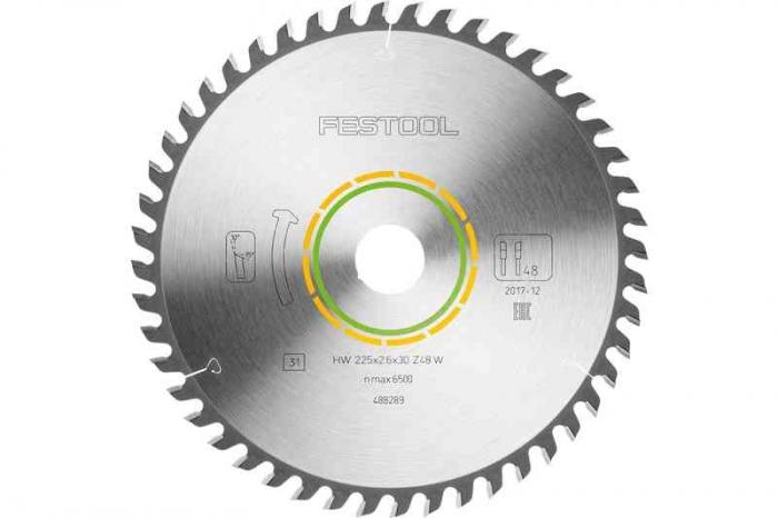 Festool Panza de ferastrau circular cu dinti fini 225x2,6x30 W48 1