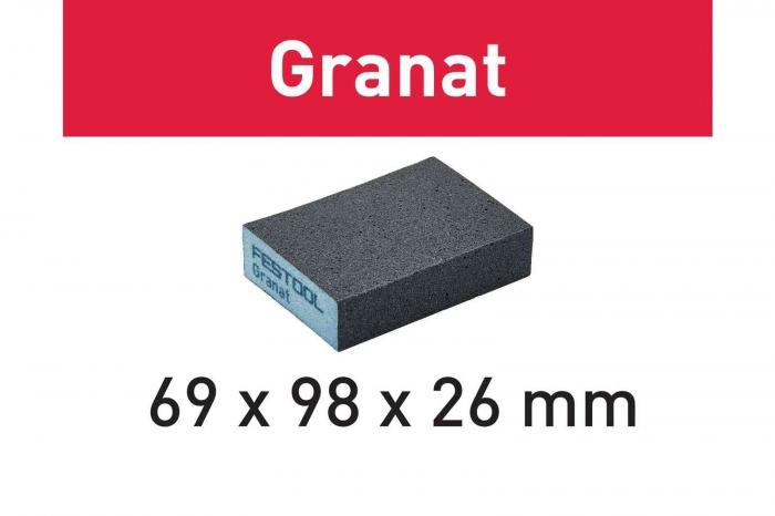 Festool Bloc de şlefuire 69x98x26 60 GR/6 Granat [0]