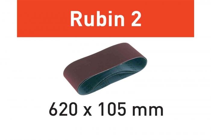 Festool Banda abraziva L620X105-P80 RU2/10 Rubin 2 1