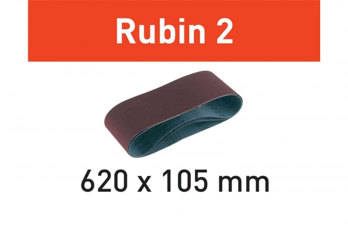 Festool Banda abraziva L620X105-P100 RU2/10 Rubin 2 [1]