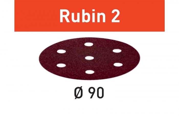 Festool Foaie abraziva STF D90/6 P80 RU2/50 Rubin 2 1