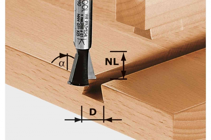 Festool Freze coadă de rândunică HW S8 D14,3/13,5/15° [0]