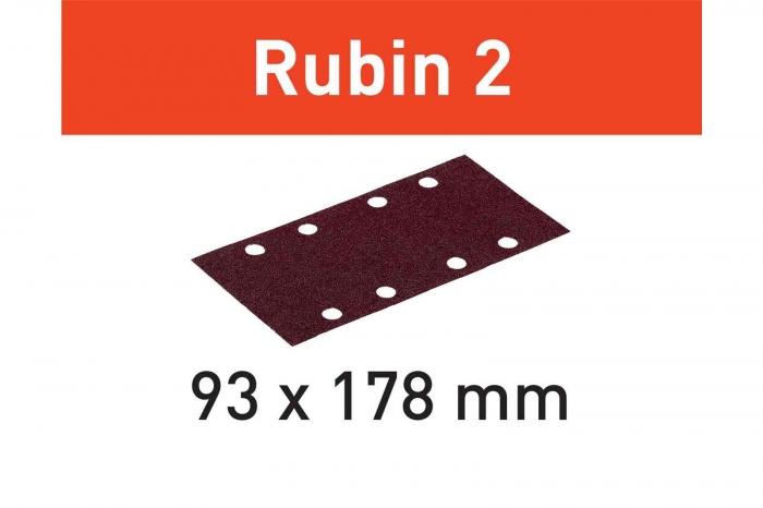 Festool Foaie abraziva STF 93X178/8 P120 RU2/50 Rubin 2 0