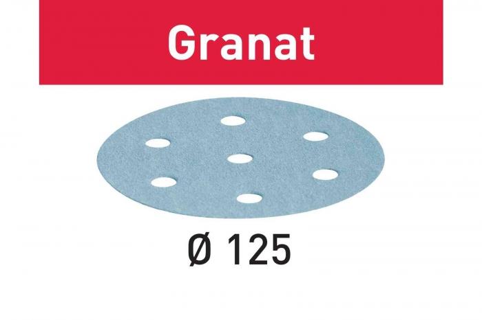 Festool Foaie abraziva STF D125/8 P80 GR/50 Granat [0]