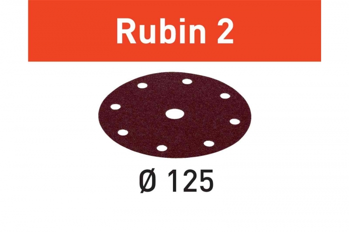 Festool Foaie abraziva STF D125/8 P120 RU2/10 Rubin 2 1