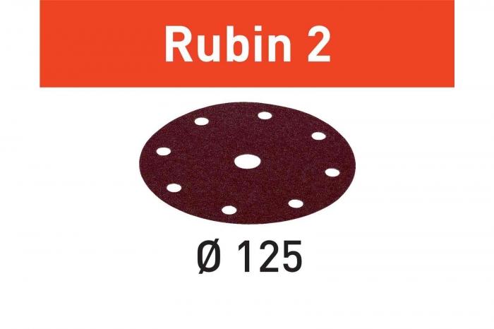 Festool Foaie abraziva STF D125/8 P120 RU2/50 Rubin 2 0