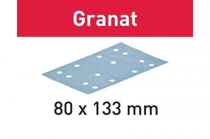 Festool Foaie abraziva STF 80x133 P80 GR/10 Granat [0]
