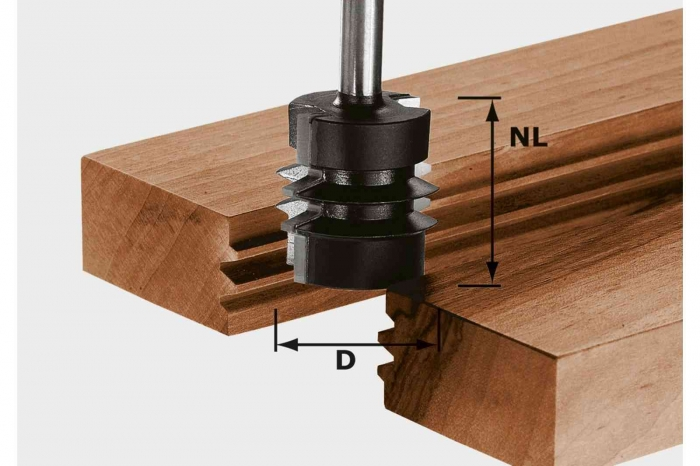 Festool Freză pentru îmbinări încleiate nut şi feder HW S8 D34/NL32 0
